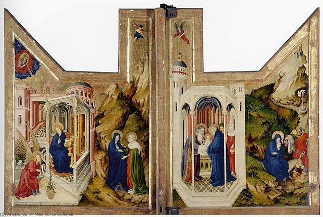 Pintura del Alar de Dijon - Melchor Broederlam