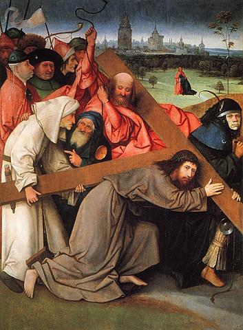 Cristo caminando al calvario - El Bosco