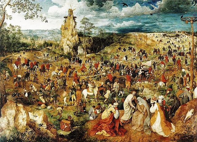 Jesucristo con la cruz a cuestas - Brueghel el Viejo