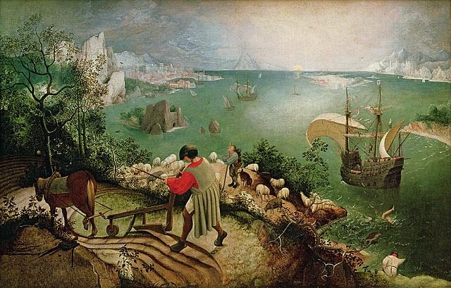 La caida de ícaro - Brueghel