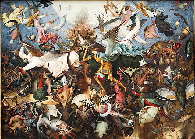 La caída de los ángeles rebeldes - Brueghel