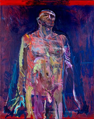 Exposición de la serie Cristos en la galería Marta Traba
