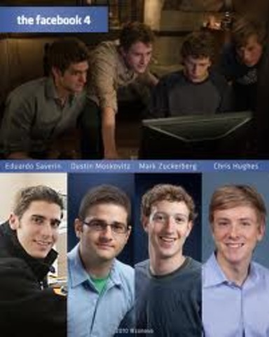 The Facebook was created by Mark Zuckerberg ,Chris Hughes, Dustin Moskovitz, and Eduardo Saverin.
