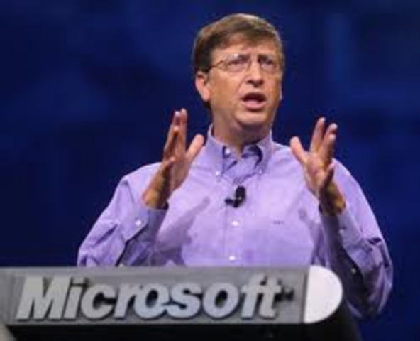Microsoft was first created by Bill Gates
