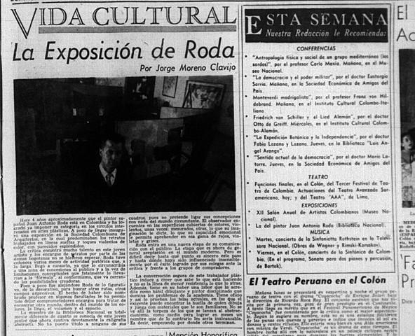 La exposición de Roda por Jorge Moreno Clavijo en la BIblioteca Nacional