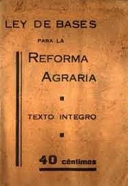 LEY DE BASES DE LA REFORMA AGRARIA.