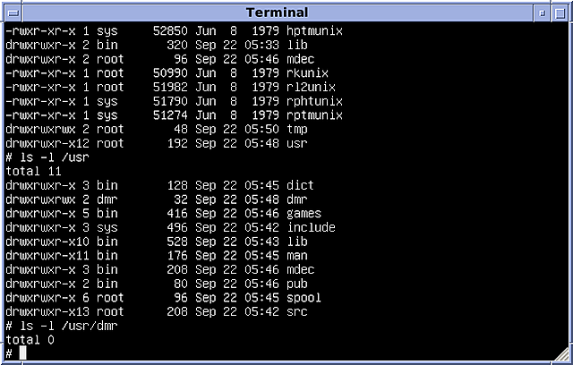 La creación de unix, la base de la mayoría de los sistemas operativos