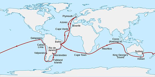 Investigaciones de Darwin durante el viaje