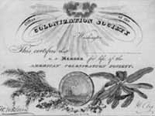 Formation of the American Colonization Society