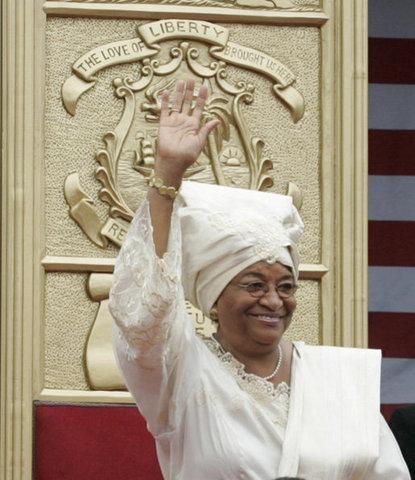 Ellen Johnson Sirleaf is elected President