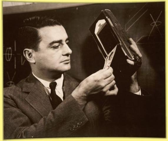 Edwin Land markets the Polaroid camera