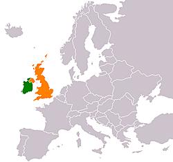 Ireland joins the United Kingdom