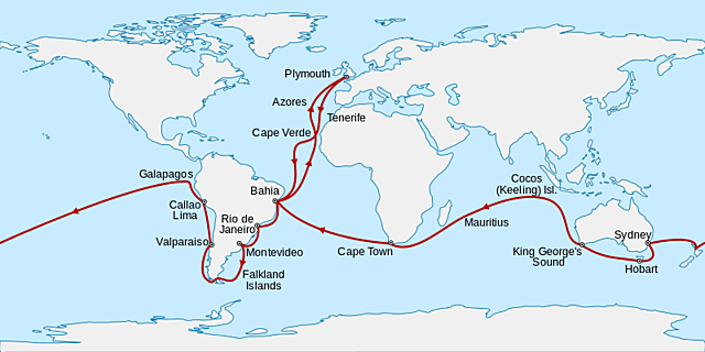 Regreso a Inglaterra - Fin del viaje Beagle
