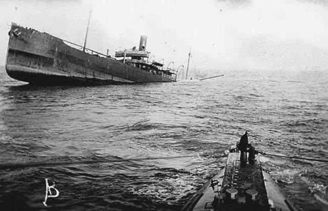 Germans stop unrestricted submarine warfare
