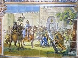 The reconquer of Toledo by Alfonso VI