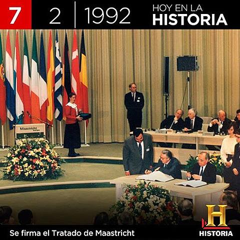 """Caída de la bolsa """"tratado de Maastricht"""
