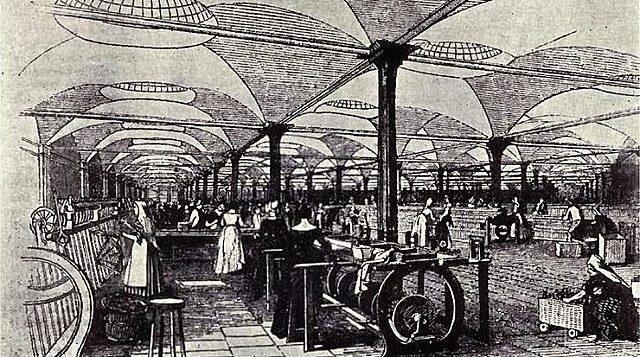 The beginning of the Industrial Revolution