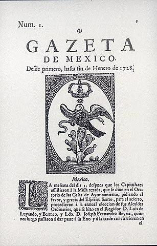 La Gazeta de México y noticias de Nueva España