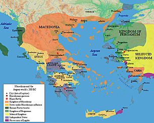Greece: Sparta makes a treaty with Rome