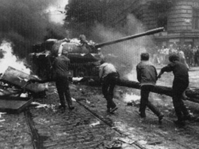 Bloqueo de Berlín por soldados de la RDA