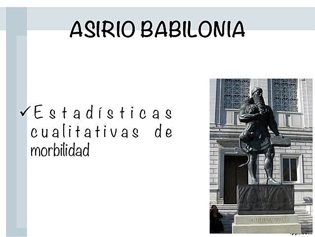 SALUD PUBLICA - EDAD ANTIGUA - ASIRIA BABILONIA