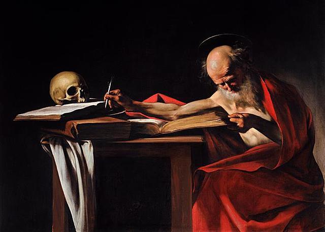 San Jerónimo escribiendo, Caravaggio