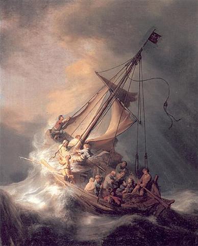 Tormenta en el mar de galilea, Rembrandt