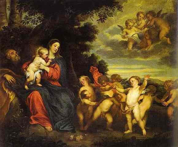 El descanso en el viaje a Egipto, van Dyck