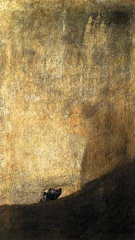 El perro, Goya