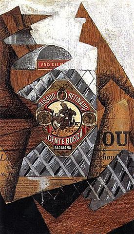 La bouteille d'anis, Juan Gris