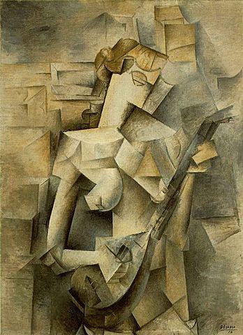 Chica con mandolina, Picasso