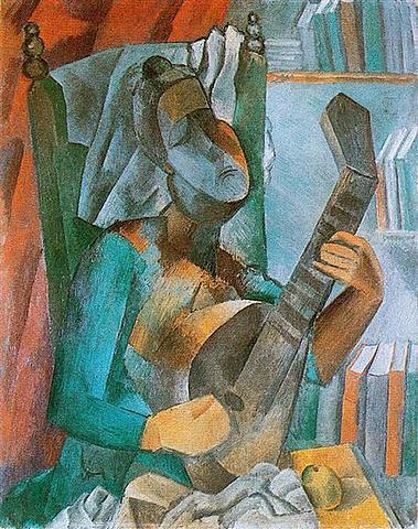 Mujer con mandolina, Picasso