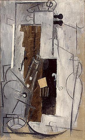 Clarinete y violín, Picasso