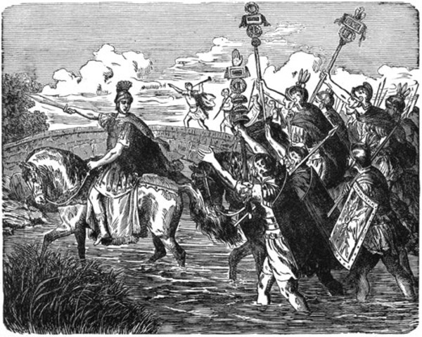 Ceasar left Rome
