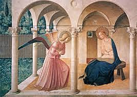 Anunciación del convento de San Marcos Fra Angélico. Quattocento.