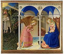 Anunciación. Fra Angélico. Quattrocento.