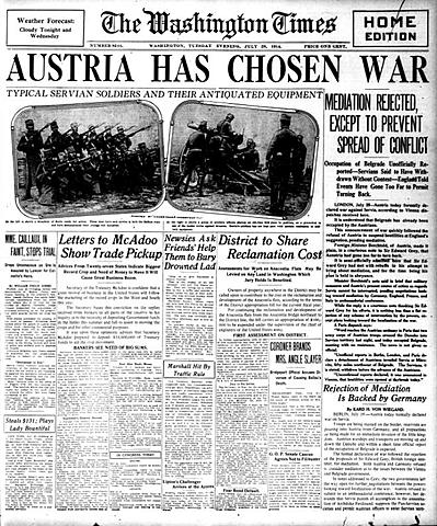 Declaración de guerra de Austria a Serbia