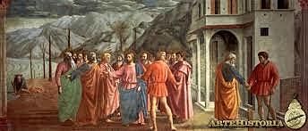 El Tributo de la Moneda. Masaccio. Quattrocento.