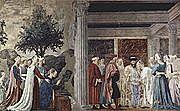 La Leyenda de la Vera Cruz. Piero della Francesca. Quattrocento.