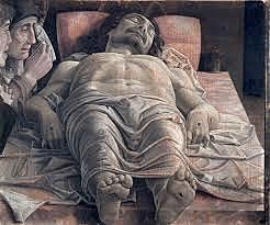 Lamentación sobre Cristo Muerto. Andrea Mantegna.  Quattrocento.