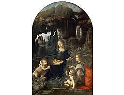 La Virgen de las Rocas. Leonardo da Vinci. Cinquecento