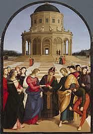 Los Desposorios de la Virgen. Rafael Sanzio. Cinquecento.