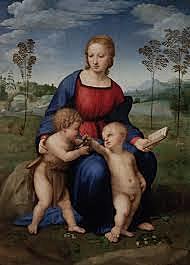 La Virgen del Jilguero. Rafael Sanzio. Cinquecento.