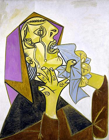 Cabeza de mujer llorando con pañuelo III, Picasso