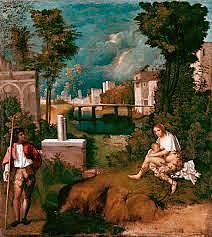 La Tempestad. Giorgione. Pintura Veneciana.