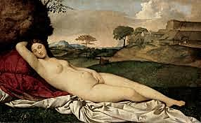 La Venus dormida. Giorgone. Pintura Veneciana.