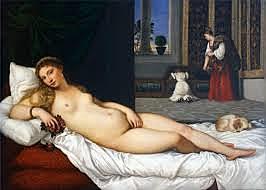 La Venus de Urbino. Tiziano. Pintura Veneciana.