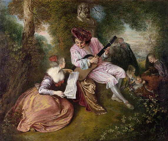 La escala del amor, Watteau