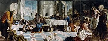 El Lavatorio. Tintoretto. Pintura Veneciana.