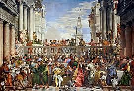 Bodas de Caná. Paolo Veronesse. Pintura Veneciana.